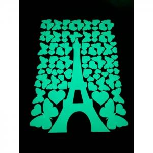Светящаяся наклейка ночник Эйфелева башня