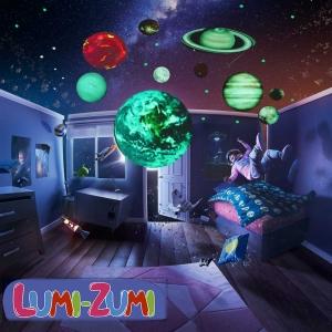 Светящаяся наклейка ночник Люми-Зуми Планеты