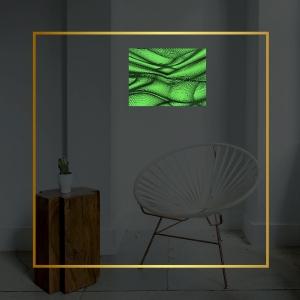 Люми-Зуми/Светящаяся картина Абстракция Люми-Зуми формата А3