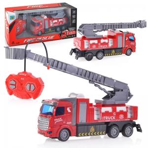 WL-45 крас/сер Пожарная машина радиоуправляемая, 27MHz, в коробке
