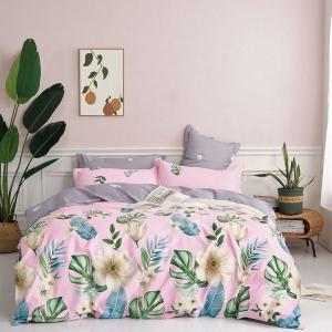 Т-551 цветн (2-х евро) КПБ 2-х-спальный, европростыня, сатин
