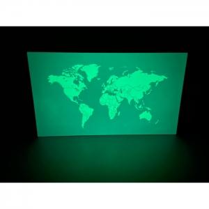 Светящаяся карта мира Люми-Зуми Аквамариновая А3