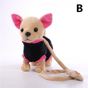 Музыкальная собачка на поводке в сумке