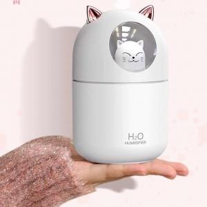 Мини увлажнитель воздуха HUMIDIFIER - LED светильник ночник - Кот оптом