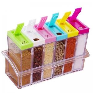Набор баночек для хранения специй из 6 ёмкостей оптом