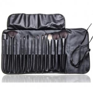 Набор кистей для макияжа в мягком чехле (15 шт.) оптом