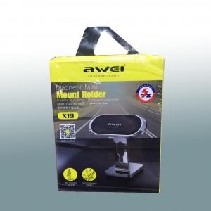 Магнитный автомобильный держатель для телефона Awei X19 оптом