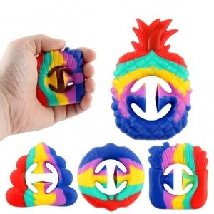 Антистрессовая радужная игрушка снаппер оптом