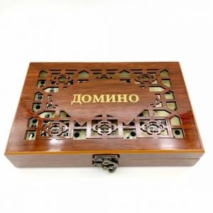 Домино в подарочной деревянной упаковке оптом