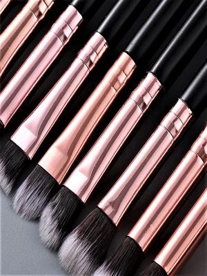 Набор кистей для макияжа 15 шт. Кисти для растушевки и конкуринга. Кисти косметические.