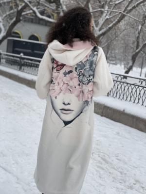 Шуба белая Девушка-Весна