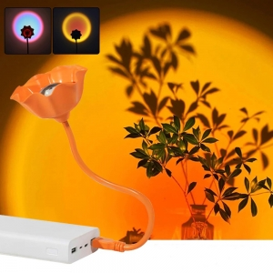 USB проекционная лампа Радужный закат оптом