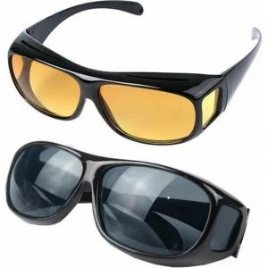 Очки для водителей HD Vision желтые и черные (2 пары)