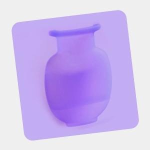 Ваза силиконовая фиолетовая