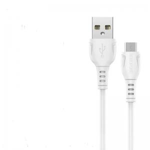 USB кабель micro USB 1.0м BOROFONE BX19 (белый) 2.4A