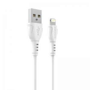 USB кабель для iPhone 5/6/6Plus/7/7Plus 8 pin 1.0м BOROFONE BX51 (белый) 2.4A