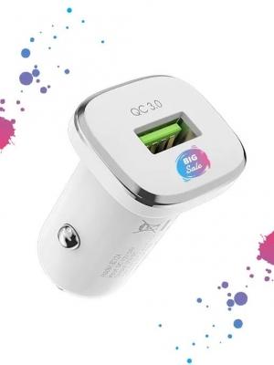 АЗУ 1 USB выход 18W Quick Charge (5V-4.0A/9V-2.0A/12V-1.5A) MAIMI CC112 (белый)