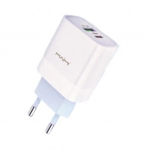 СЗУ 1 USB выход  Type-C (PD 3.0) выход 20W (5V-3.0A/9V-2.2A) MAIMI C62 (белый)