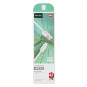 USB кабель micro USB 1.0м MAIMI M215 (белый) 2A