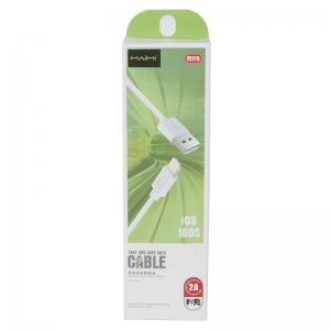 USB кабель для iPhone 5/6/6Plus/7/7Plus 8 pin 1.0м MAIMI M215 (белый) 2A