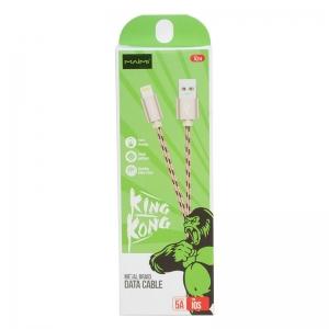 USB кабель для iPhone 5/6/6Plus/7/7Plus 8 pin 1.0м MAIMI X24 (золото) 5A