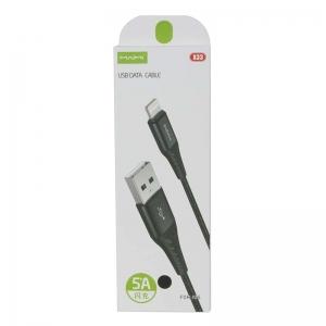 USB кабель для iPhone 5/6/6Plus/7/7Plus 8 pin 1.0м MAIMI X33 (черный) 5A