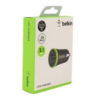Автомобильное зарядное устройство Belkin 2.1amp. 20 watt для Apple.