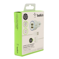 Автомобильное зарядное устройство Belkin 2.1amp + кабель 30-pin to USB 1.2 метра
