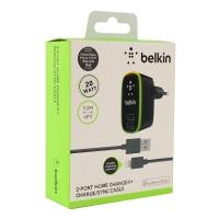 Сетевое зарядное устройство Belkin Home Charger 2 USB + кабель Lightning