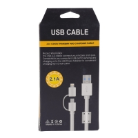 Кабель USB Cable2 в 1 lightning adapter and Micro USB оптом