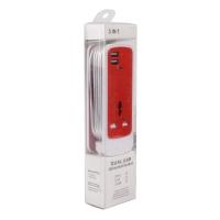 Зарядное устройство 3в1 Dual USB Universal Socket