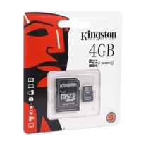 Карта памяти Kingston microSDHC/microSDXC Class 10 HS-I 4GB