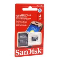 Карта памяти SanDisk TransFlash MicroSDHC class 10 4GB оптом