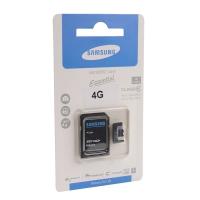 Карта памяти MicroSDHC Essential class 10 4GB