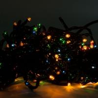 Светодиодная гирлянда С Новым годом 500 ламп разноцветная оптом