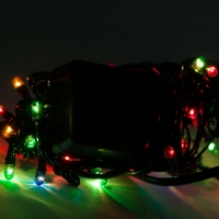 Светодиодная гирлянда С Новым годом 100 ламп разноцветная оптом