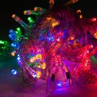 Светодиодная гирлянда С Новым годом 160 ламп разноцветная оптом