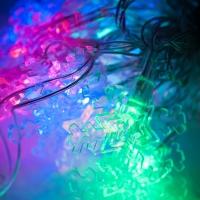 Светодиодная гирлянда С Новым годом 40 ламп фигурная оптом