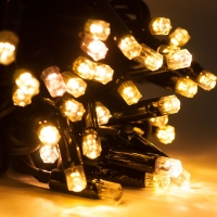 Светодиодная гирлянда LED 100 ламп теплый свет
