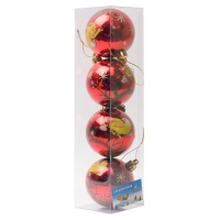 Комплект ёлочных шаров Курочка на шарике 4 шт.