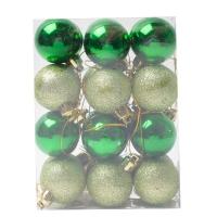 Комплект ёлочных украшений Зелёные шары24 шт. оптом