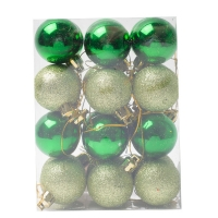 Комплект ёлочных украшений Зелёные шары24 шт.
