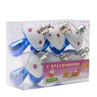 Комплект новогодних украшений Грибочки 6 шт.