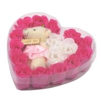 Подарочный набор конфетти для ванны 16 шт. с мягкой игрушкой