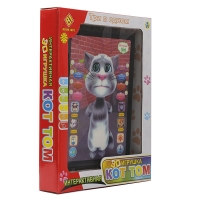 Детский интерактивный 3D планшет Кот Том 3 в 1