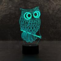 3D светильникСова