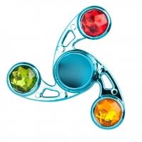 Спиннер Fidget spinner с разноцветными кристаллами