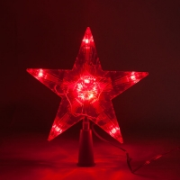 Светодиодная верхушка на елку Звезда оптом