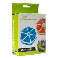 Универсальный разъем питания 4 USB Hexagon Socket оптом