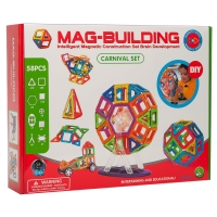 Магнитный конструктор Mag-Building 58 деталей оптом